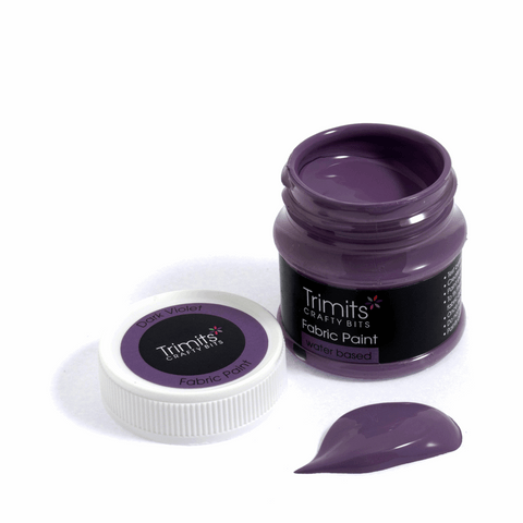 Trimits Fabric Paint Pot - Dark Violet