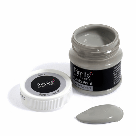 Trimits Fabric Paint Pot - Grey