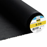 G710 Vlieseline Black Woven Medium weight interfacing