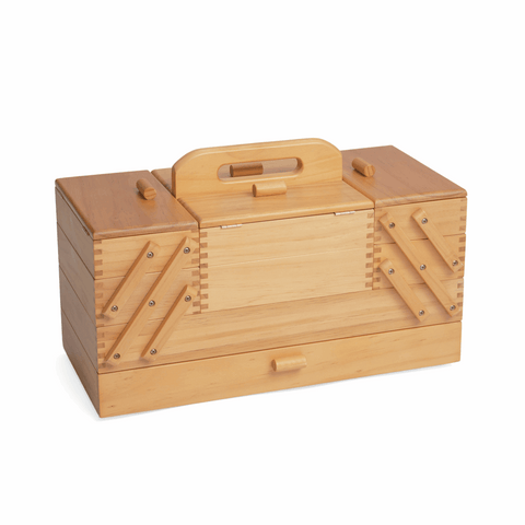 Wooden Sewing Craft Box - Cantilever 4 Tier