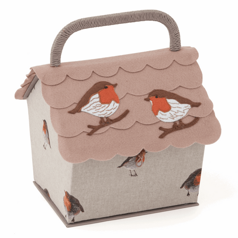 Sewing Basket - Birdhouse Robin
