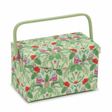 Fold Over Lid Sewing Basket - Tropical Lime