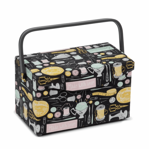 Fold Over Lid Sewing Basket - Sew & Sew
