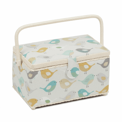Medium Sewing Basket - Birds