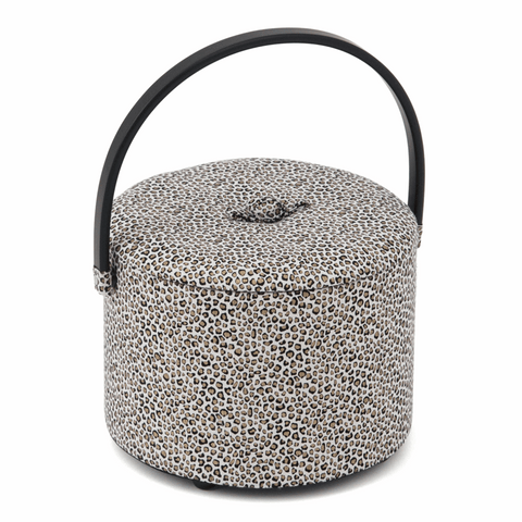 Round Tub Sewing Box - Animal Print