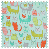 Square Sewing Basket - Crazy Cats