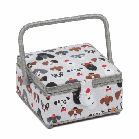 Square Sewing Basket - Classy Canines