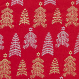 Christmas Silver & Gold Trees - 100% Cotton Fabric by John Louden