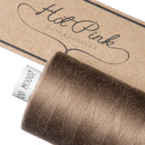 1000m Coates Polyester Moon Thread: Browns, Greys & Creams - Hot Pink Haberdashery  - 3