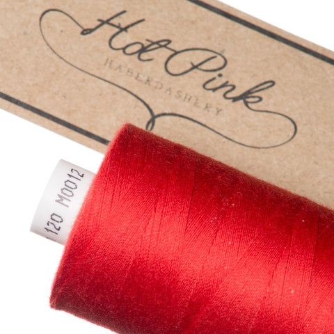 1000m Coates Polyester Moon Thread: Reds & Pinks - Hot Pink Haberdashery  - 2