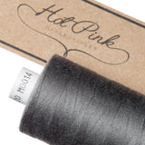 1000m Coates Polyester Moon Thread: Browns, Greys & Creams - Hot Pink Haberdashery  - 4