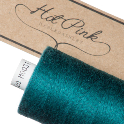 1000m Coates Polyester Moon Thread: Greens - Hot Pink Haberdashery  - 2