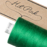 1000m Coates Polyester Moon Thread: Greens - Hot Pink Haberdashery  - 5