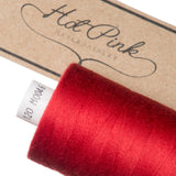 1000m Coates Polyester Moon Thread: Reds & Pinks - Hot Pink Haberdashery  - 9
