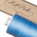 1000m Coates Polyester Moon Thread: Blues - Hot Pink Haberdashery  - 10