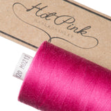 1000m Coates Polyester Moon Thread: Reds & Pinks - Hot Pink Haberdashery  - 22