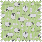 Square Sewing Basket - Sheep With Drawer