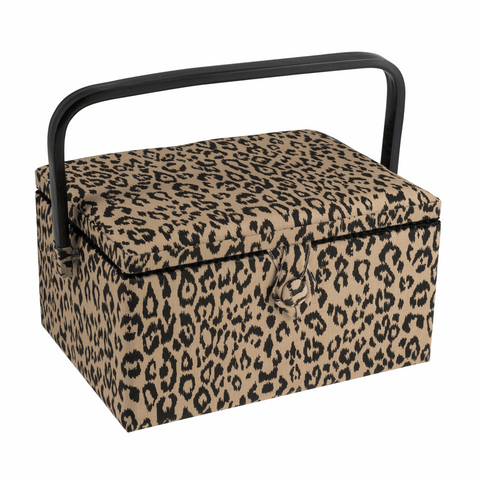 Medium Sewing Basket - Leopard