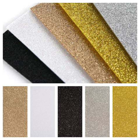 5 Sheets of A4 Glitter Felt - Metallic