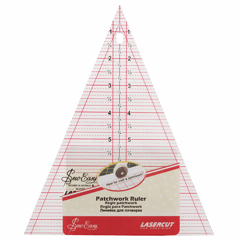 Sew Easy Triangle Template Ruler - 8.5 x 7in