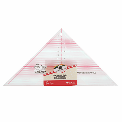 Sew Easy Triangle Quilting Template Ruler - 90 Degree