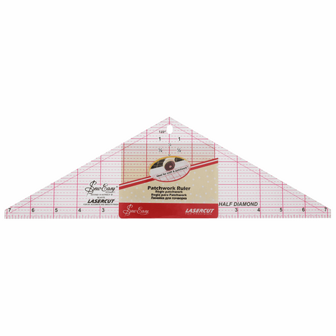 Sew Easy Half Diamond Quilting Template Ruler - 14.5 x 4.5in