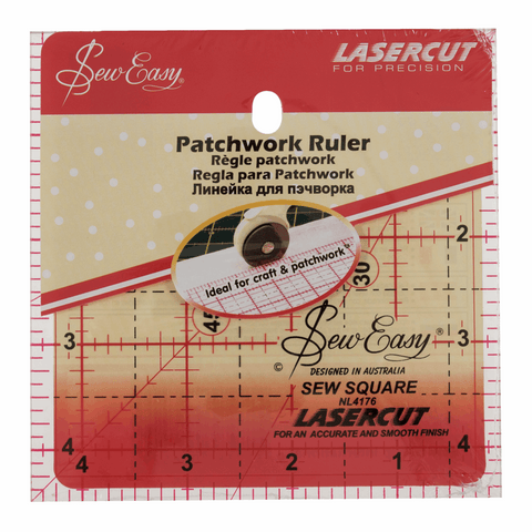 Sew Easy Square Quilting Template Ruler - 4.5 x 4.5in