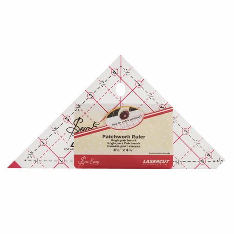 Sew Easy Triangle Template Ruler - 90 Degree