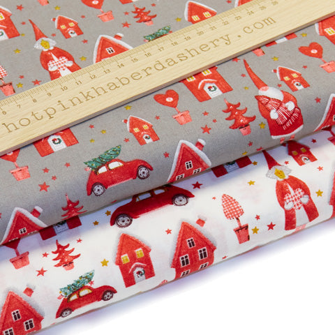 Christmas Town - 100% Cotton Fabric by Rose & Hubble