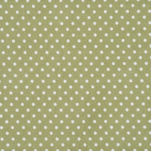 Pick N Mix: Cotton Polka Dot Sage Green - Hot Pink Haberdashery