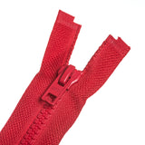 Chunky Plastic Zip -Red