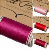 200m Gutermann Cotton Quilting Thread: Reds & Pinks - Hot Pink Haberdashery  - 1
