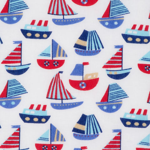 Pick N Mix: Sailing Boats on White