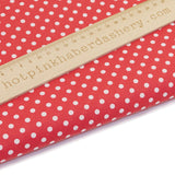 Festive Red with White Polka dots - Polycotton print