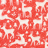 Christmas Reindeers & Fir Trees - Polycotton prints