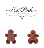 Trimits Gingerbread Man Woman Button - 18mm Shanked