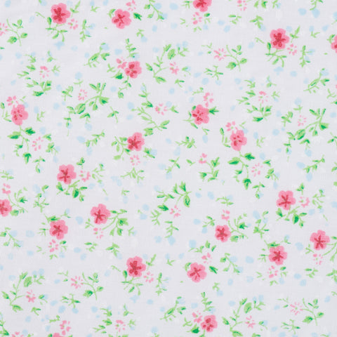 Pink Flower White & Green