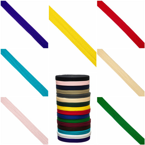 Herringbone Tape by the metre & 50m roll - 25mm & 38mm widths - 16 colours