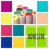 Sticky Back Adhesive Felt Fabric by the metre or 5m roll - 48 colours