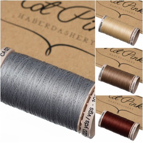200m Gutermann Cotton Quilting Thread: Creams, greys & browns