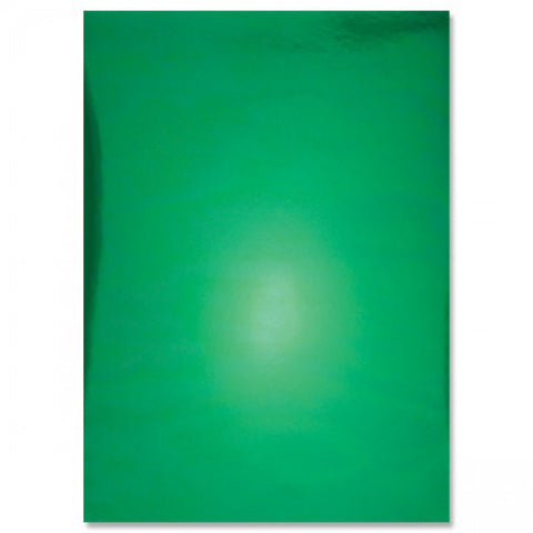 Hunkydory Metallic Mirri Mirror Shine A4 Card, x 8 sheets 270gsm in Holly Green