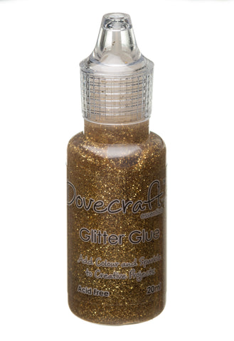 Gold Dovecraft Glitter Glue