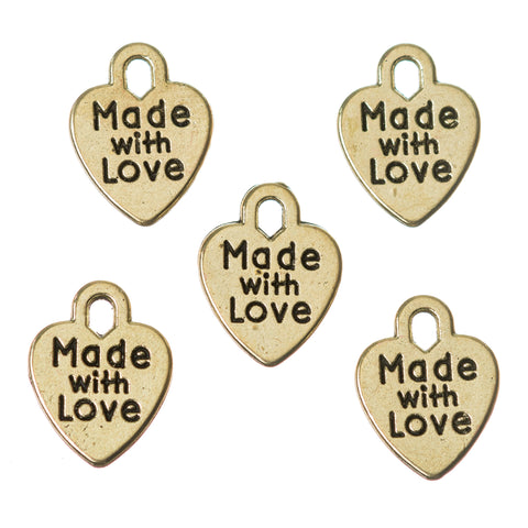 Made With Love Heart Charm