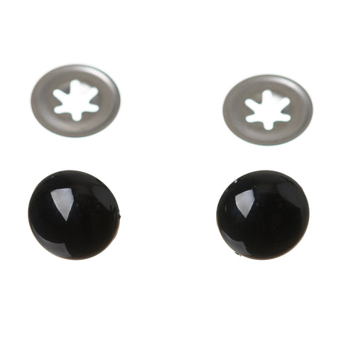 Soft Toy & Teddy Bear Safety Eyes - Solid Black Eyes in Sizes from 6mm-30mm