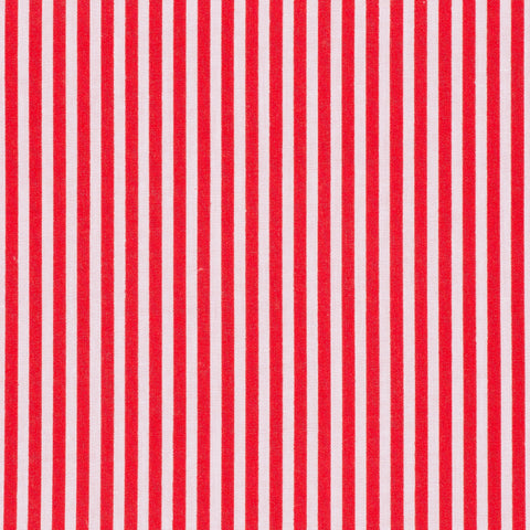 3mm traditional stripe polycotton fabric in red