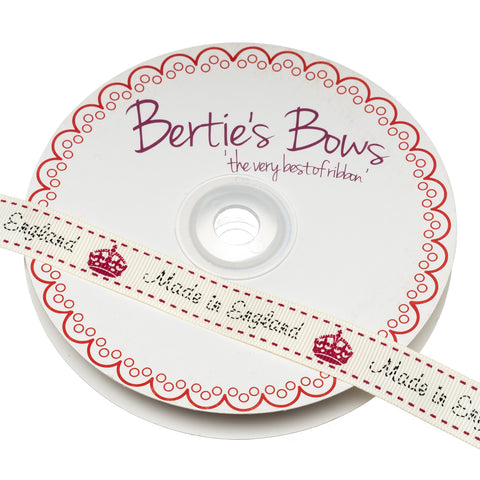 Berties Bows Grossgrain Ribbon; Made in England