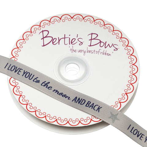 Berties Bows Grossgrain Ribbon; I Love You to the Moon and Back