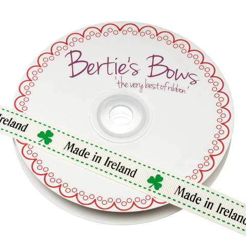 Berties Bows Grossgrain Ribbon; Made in Ireland