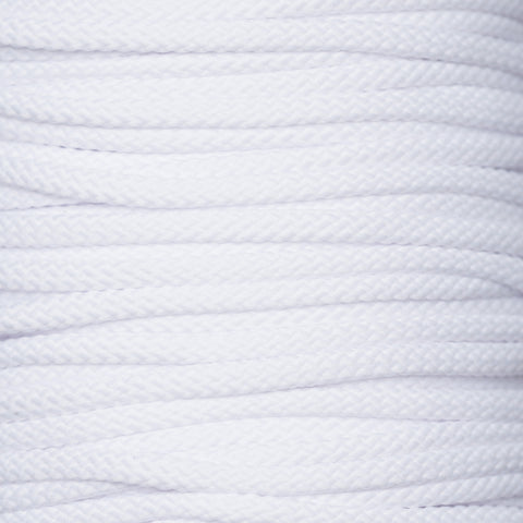 4mm drawstring cord in white