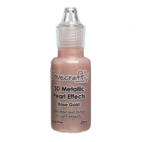 Dovecraft 3D Metallic Pearl Effect Glue Paint in Rose Gold